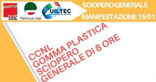 Sciopero Gomma - Plastica 15/1/2018