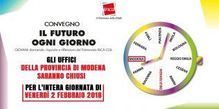 Il futuro ogni giorno - Inca Cgil Emilia-Romagna - 2 febbraio 2018