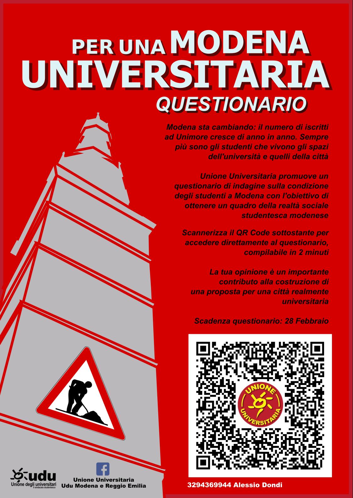 Per una Modena Universitaria SONDAGGIO