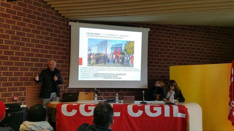 Attivo Cgil Vignola su vertenza Castelfrigo 24.1.18