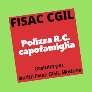 Polizza R.C. capofamiglia- Gratuita per iscritti Fisac Cgil