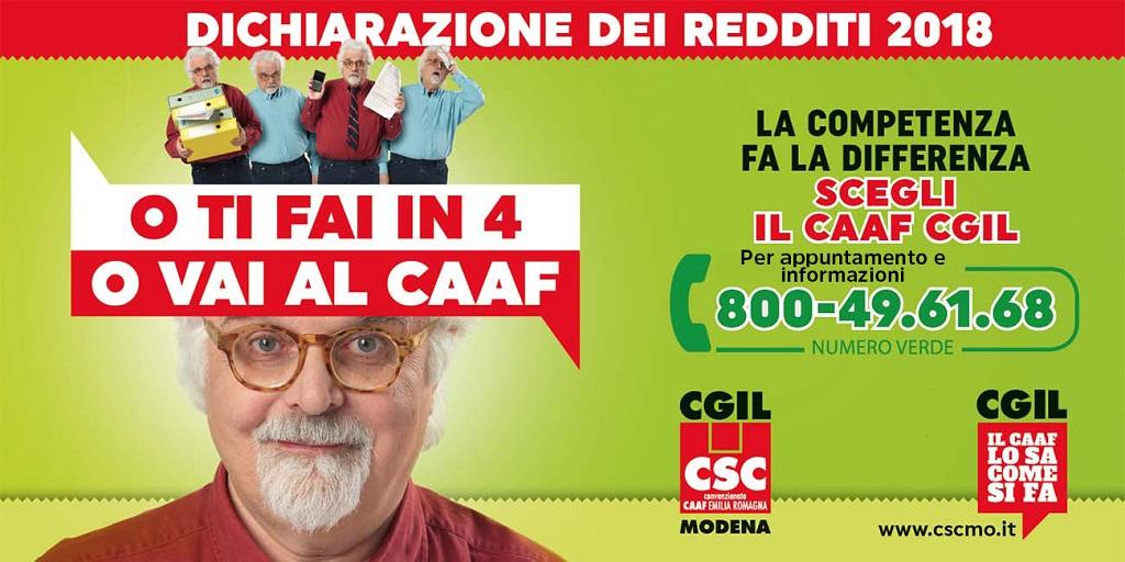 Csc- Caaf Cgil Modena - Campagna fiscale 2018