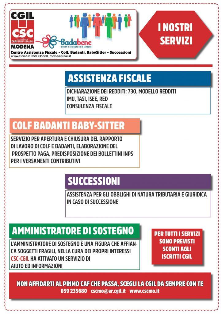 Non affidarti al primo caf che passa - Csc Badabene - Cgil Modena