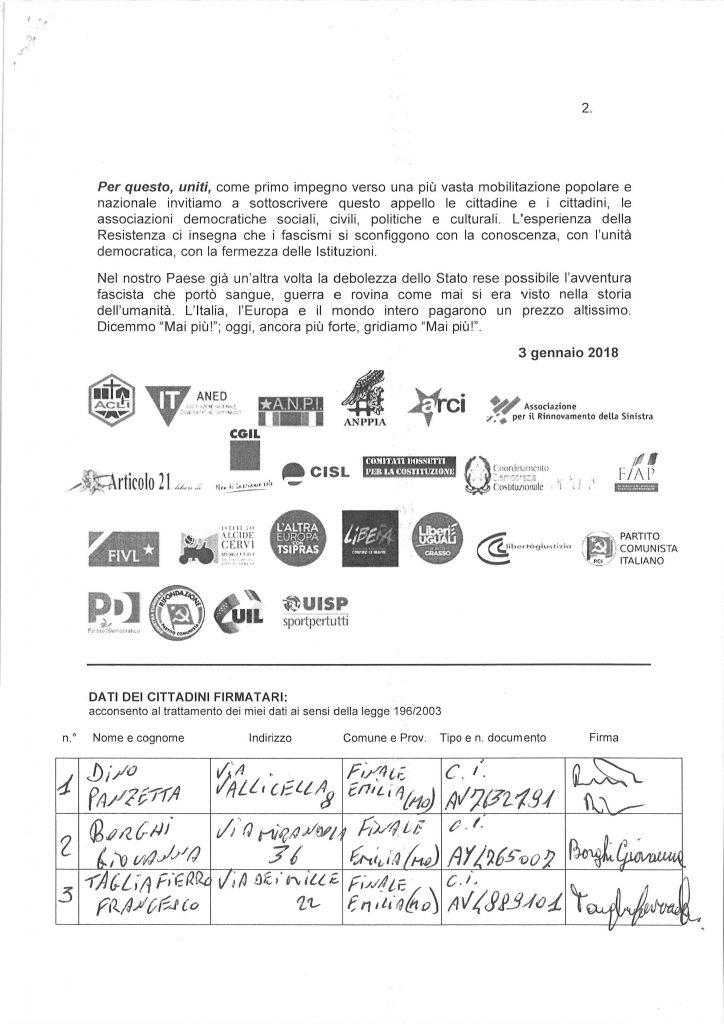 firme mai piu fascismi - 24 febbraio 2018