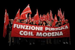 manifestazione Fp Cgil Modena