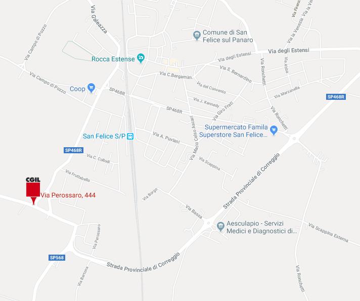 Sede Camera del Lavoro di San Felice sul Panaro - Via Perossaro, 444