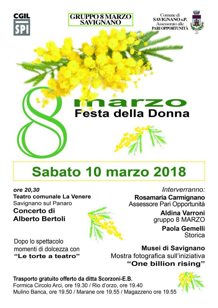 8 MARZO 2018 teatro la venere savignano