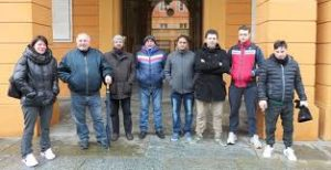 Arsom presidio davanti Comune Carpi 22.2.18