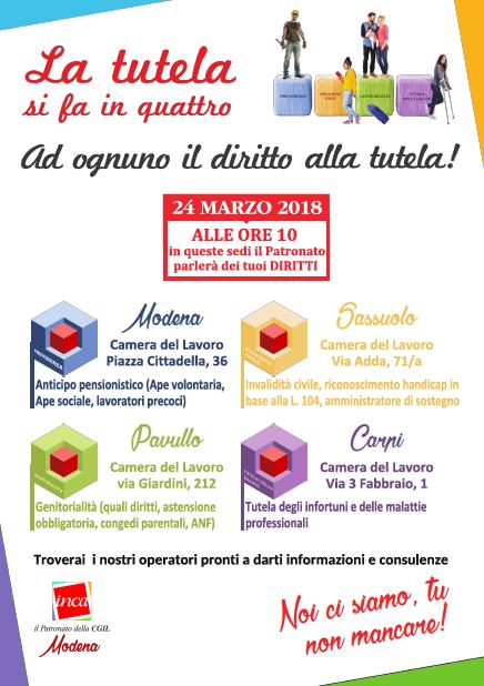 Inca in piazza Modena 24.3.18
