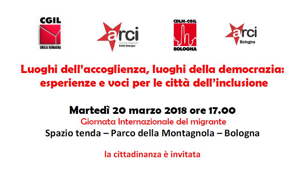 Luoghi dell'accoglienza, luoghi della democrazia, 20.3.18 Bologna