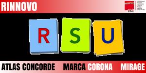 rinnovo rsu atlas concorde, mirage, marca corona
