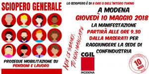 Sciopero generale provinciale - Modena, 10/5/2018