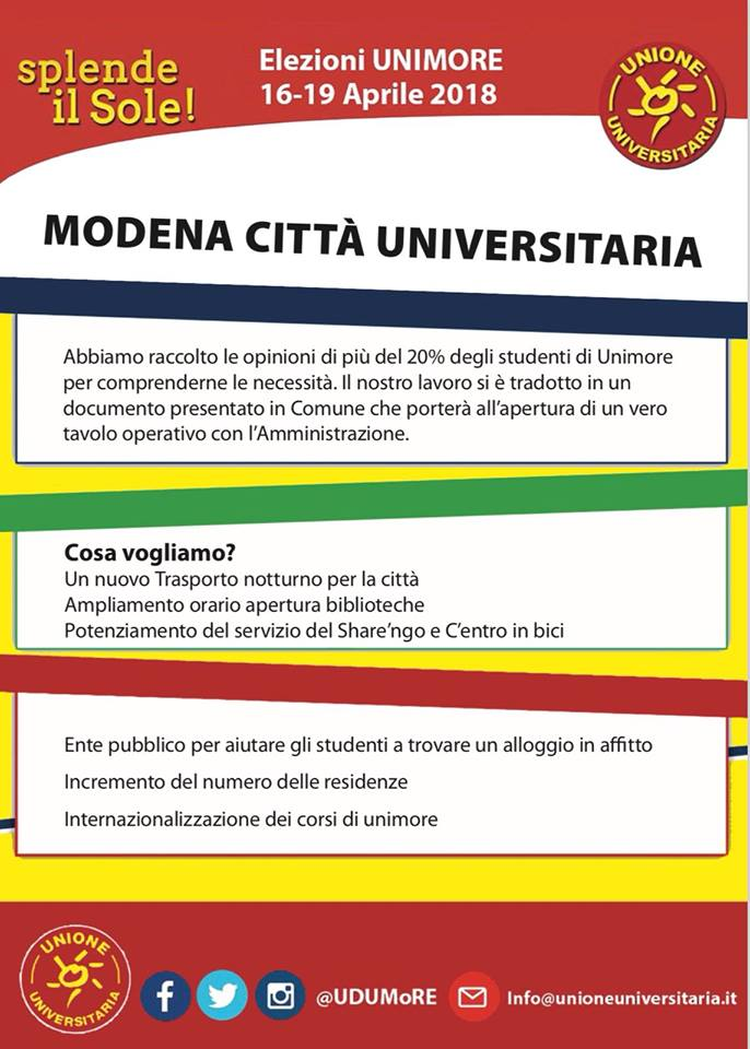 elezioni universitarie Unimore