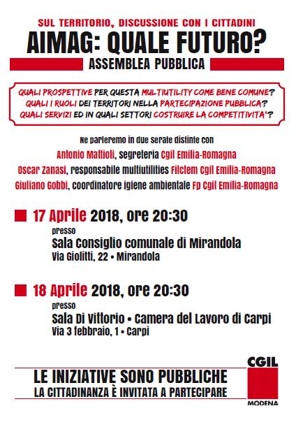 assemblee Aimag 17 e 18 aprile 2018
