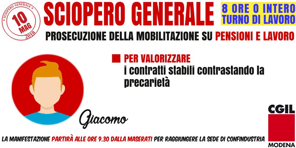 Cgil sciopero generale a Modena - 10 maggio 2018