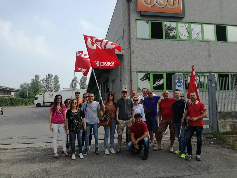 Sciopero Fedex - Tnt a Modena - 31/5/2018