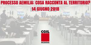 Processo Aemilia - 14/6/2018 se ne parla a San Felice sul Panaro