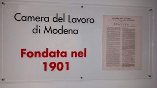 Camera del Lavoro di Modena fondata il 23 maggio 1901