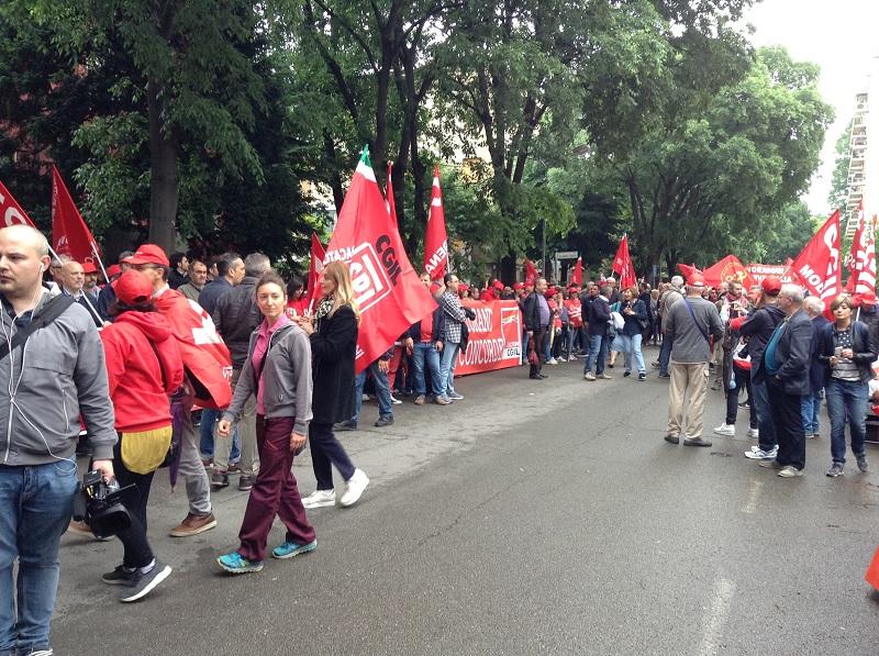 manifestazione sciopero 10.5.18