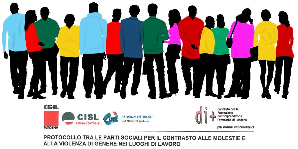 Protocollo tra le parti sociali per contrastare molestie e violenze di genere nei luoghi di lavoro - Modena, 25/11/2016