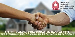 """Affitti, canoni concordati in base ai """"patti territoriali"""" dei Comuni in Provincia di Modena"""