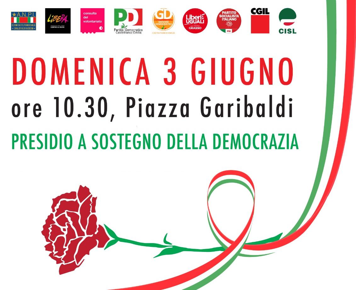 Presidio per la difesa della Costituzione e delle Istituzioni - Castelfranco Emilia, 3-6-2018