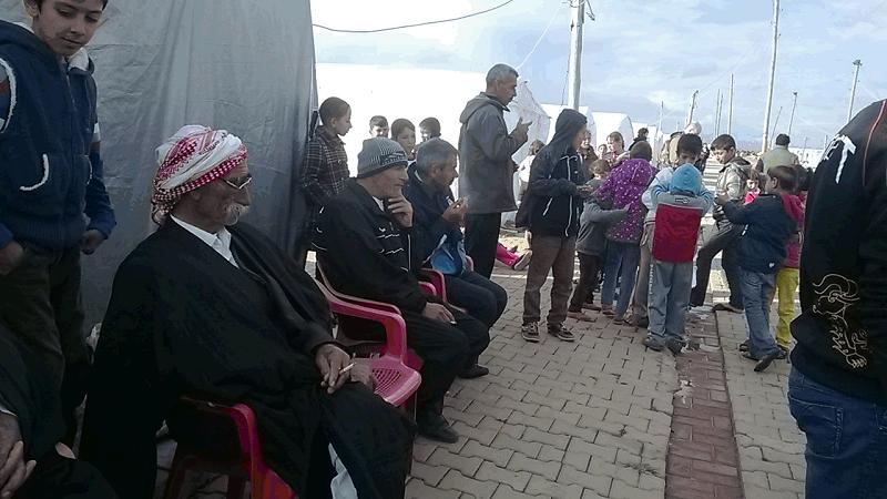 campo profughi kurdo, sud Turchia verso confine siriano, missione 2015