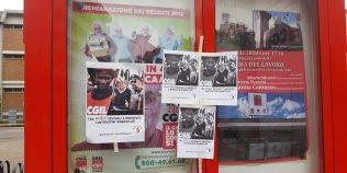 ennesimo manifesto razzista, fascista, xenofobo, omofobo affisso alla sede Cgil di Modena
