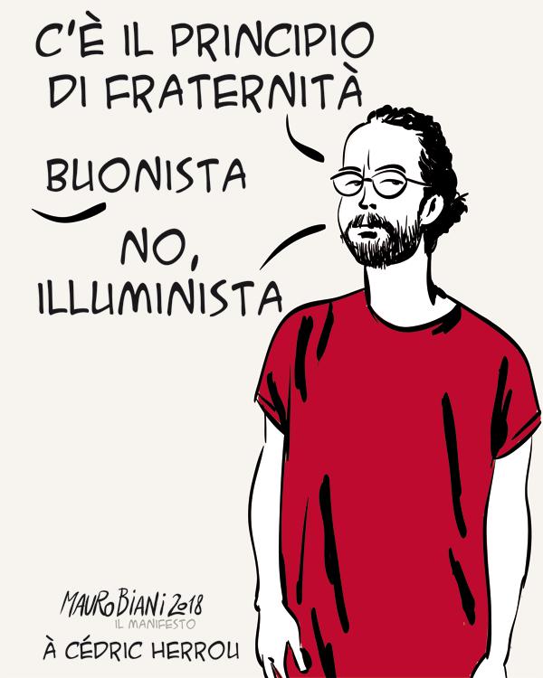 Principio di fraternità di Mauro Biani - 2018