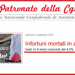 Infortuni mortali in aumento - 25 settembre 2018