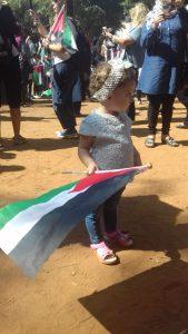 Manifestazione all'ingresso di Shatila in ricordo dell'anniversario strage