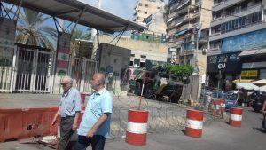 mezzo blindato dell'esercito libanese nelle decine di check point a Beirut, specie intorno ai due quartieri coi campi di Sabra e Shatila. 21-9-18