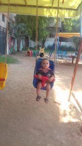 Nahr El Bared Camp Nord Libano centro infanzia ricostruito di recente, 20.9.18