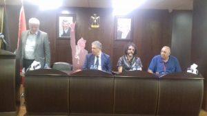 delegazione occidentale ospite dell'ambasciata palestinese a Beirut, 19.9.18