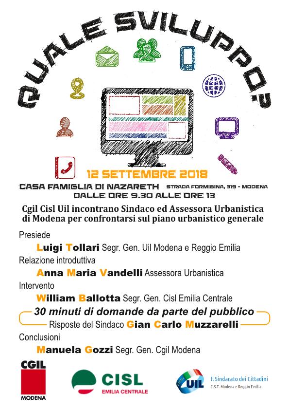 Modena, quale sviluppo urbanistico? - 12/9/2018