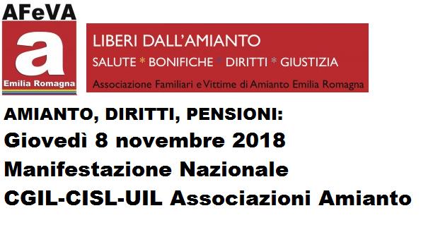 Pensioni ex-esposti amianto-Fondo vittime amianto: verso la manifestazione dell'8 novembre Audizione alla Commissione Lavoro della Camera di AFeVA