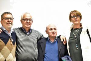 (da sx) Enzo Santolini (Spi ER), Alfredo Sgarbi (Spi Mo),Raffaele Atti (Spi nazionale), Manuela Gozzi (Cgil Mo)