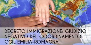 Decreto immigrazione: giudizio negativo del coordinamento Cgil Emilia-Romagna