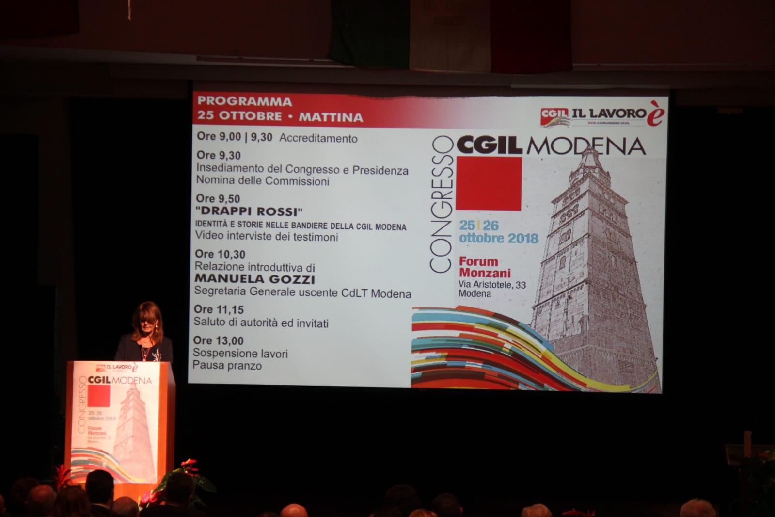 18° congresso Cgil Modena - 25-26 ottobre 2018