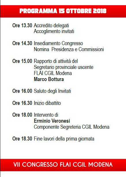 congresso Flai 15-16.10.18