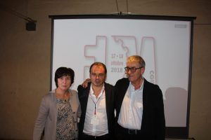 Michela Spera (Fiom nazionale), Cesare Pizzolla (Fiom Modena), Bruno Papignani (Fiom ER)