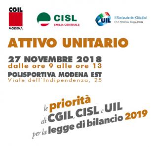 legge bilancio attivo unitario cgil cisl uil 27.11.18