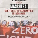 Giù la maschera, mobilitazione studentesca 16.11.18