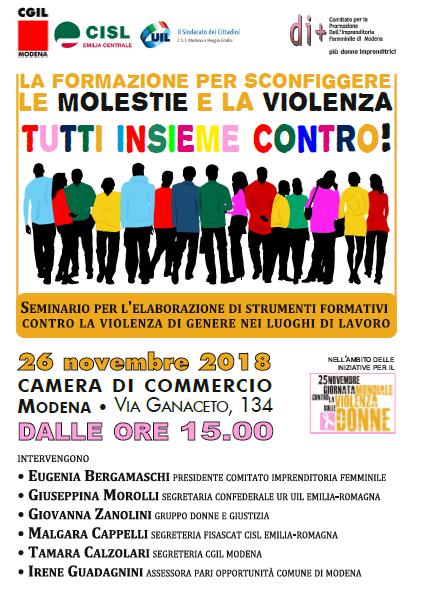 25 novembre, contro violenza donne