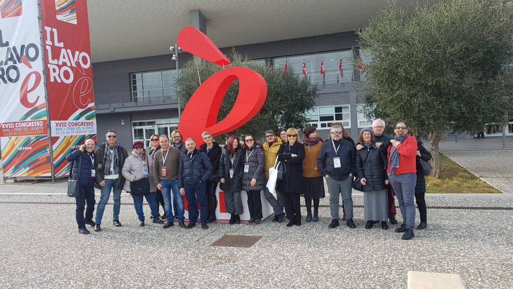 delegazione modenese Congresso Cgil Bari, 24.1.19