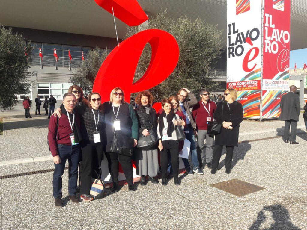 parte della delegazione modenese al Congresso Cgil Bari 23.1.19