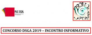 Concorso dsga-scuola 2019 - incontro informativo
