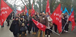 presidio Villa Igea sciopero sanità privata, 28.1.19