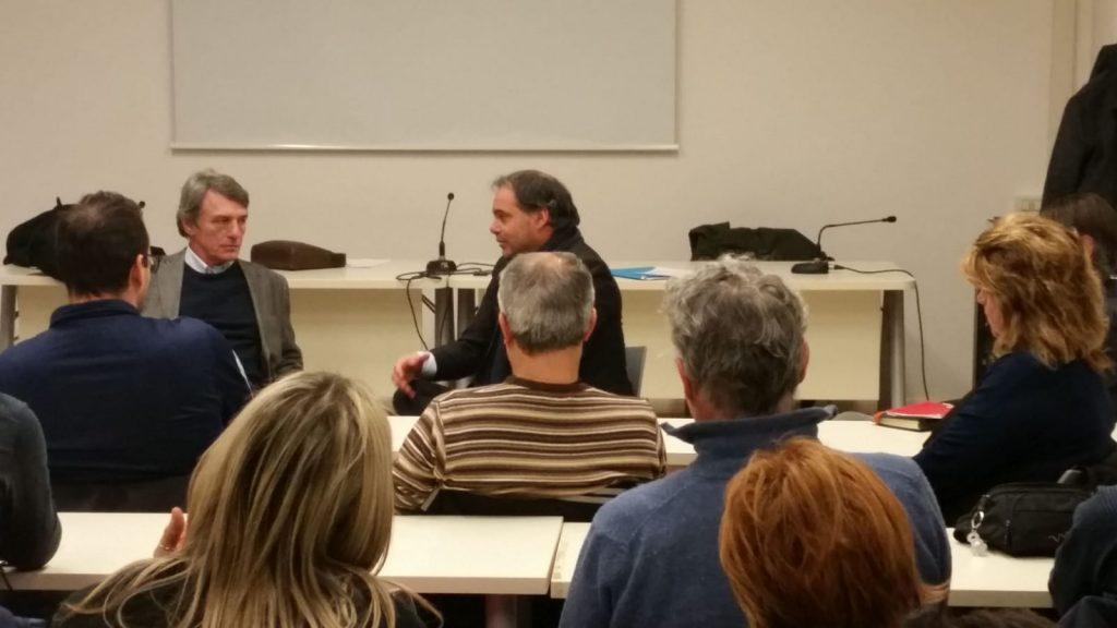 Frama Action incontro lavoratori con europarlamentare PD David Sassoli, 10.1.19