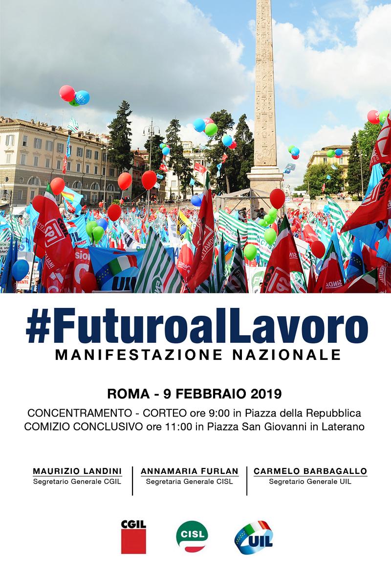 manifestazione unitario del 9 febbraio 2019